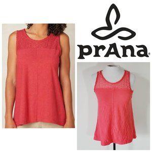 PRANA Organic Cotton Pink Lace Top